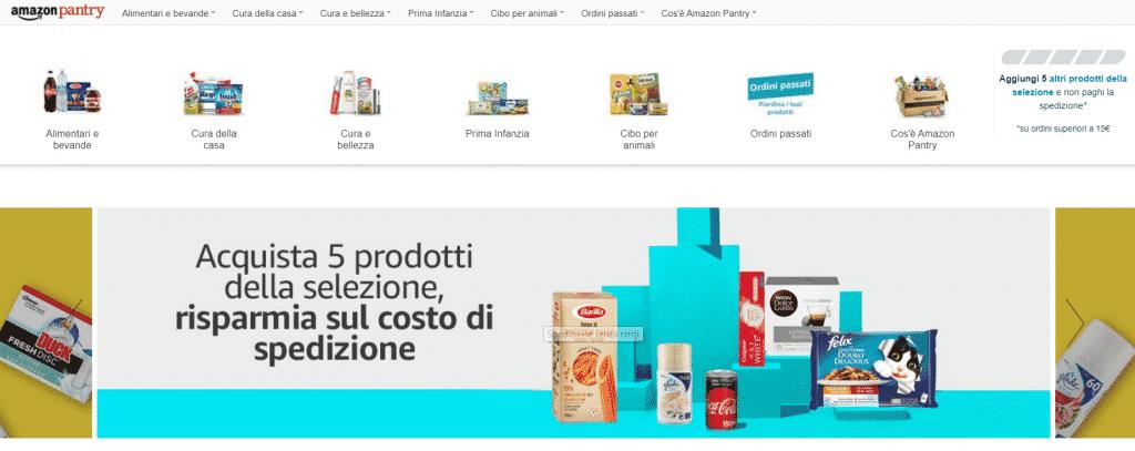 Amazon pantry per prodotti senza glutine